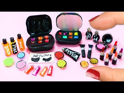 How To Make 10 Miniature Makeup Items / Cosmetic Products