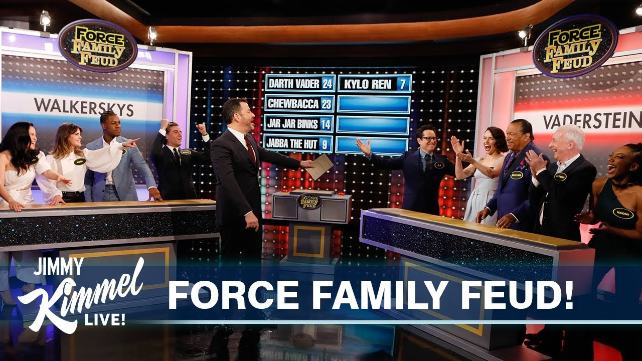 Rise of Skywalker cast play Family Feud