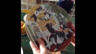 Annie's reaction to a plate from the Country Kitties Hamilton collection