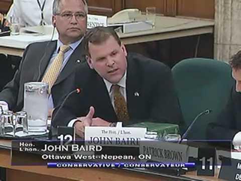 """Point of order, Madam Chair!"" - Minister John Baird"