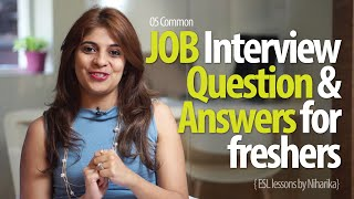 Job Interview Question & Answers for freshers - Free Job Interview tips & English Lessons thumbnail