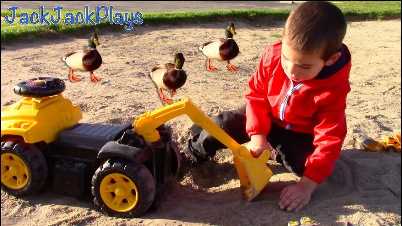 Cat Construction Toys For Toddlers : Construction for kids ducks and toy trucks matchbox