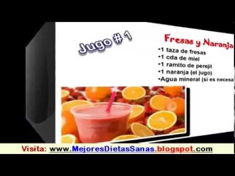 Recetas de jugos para quemar grasa y bajar de peso