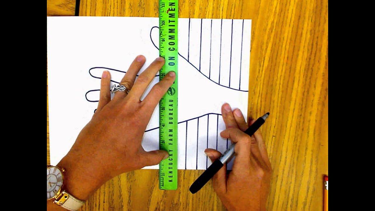 Op Art Line Design Lesson : Op art hand youtube