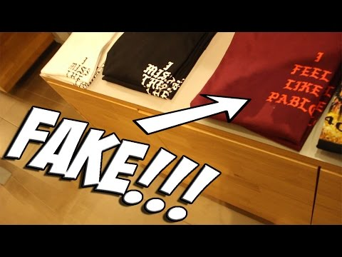 THEYRE SELLING FAKE PABLO MERCH!!!