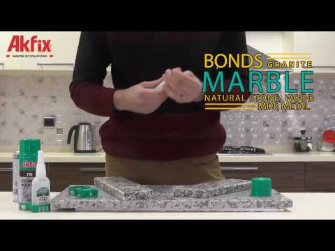 How to use Akfix 710 Stone & Marble Fast Adhesive
