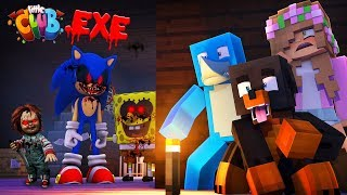THE LITTLE CLUB EXE CHALLENGE - Minecraft w Sharky Scuba Steve Donut The Dog and Little Kelly
