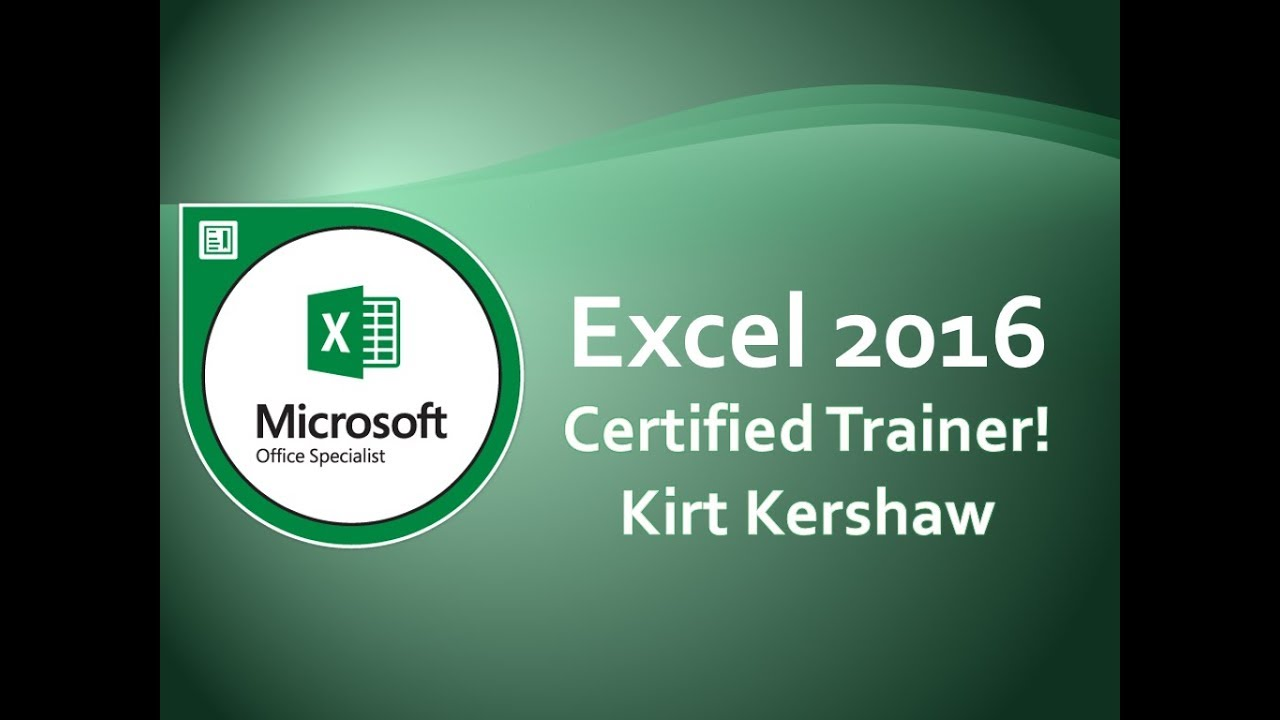 Microsoft Excel 2016: Track Changes