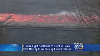 Incredible Video Of Fast Lava Flow From Fissure 8 In Hawaii