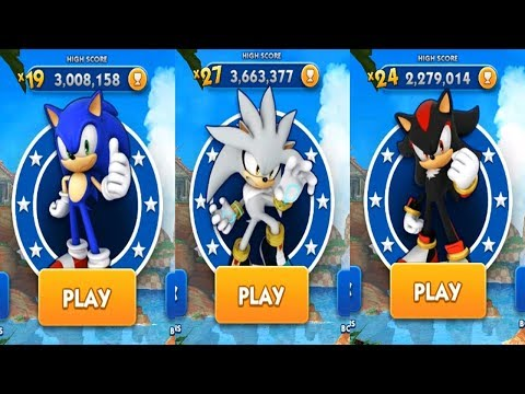 Sonic Dash Android Gameplay - SONIC VS SILVER VS SHADOW