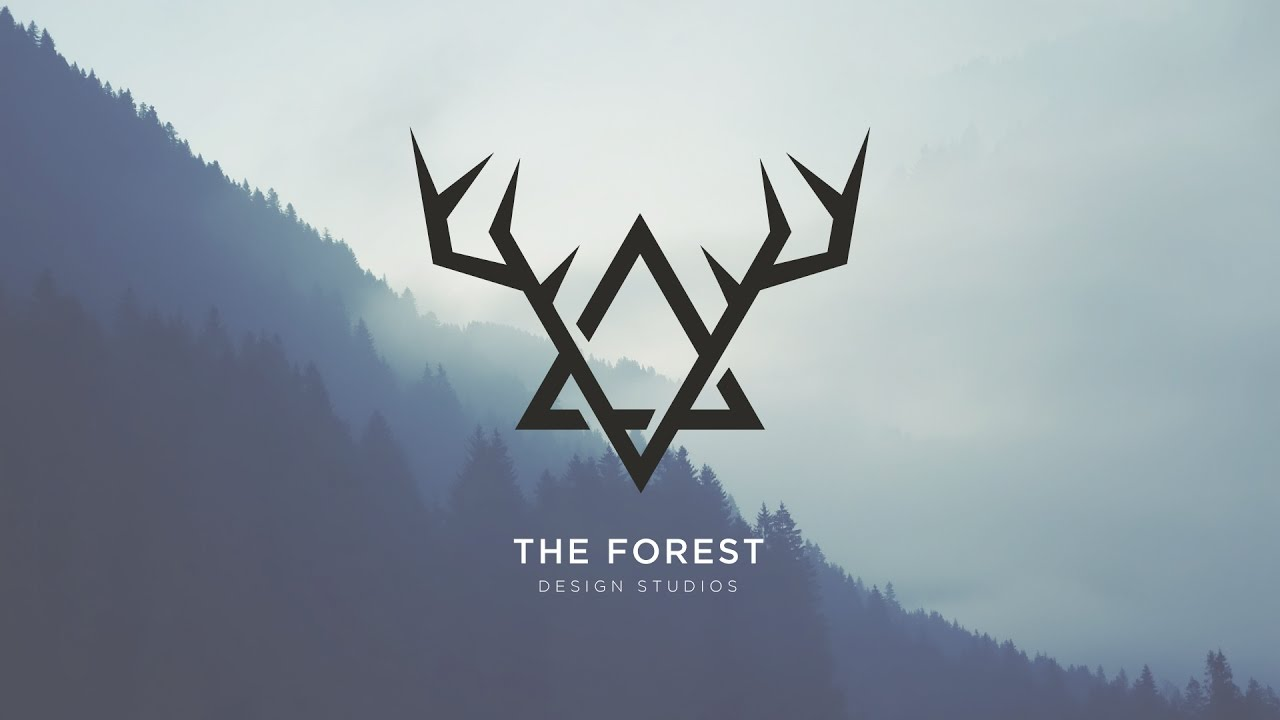 vintage forest 2d logo illustrator speed art youtube
