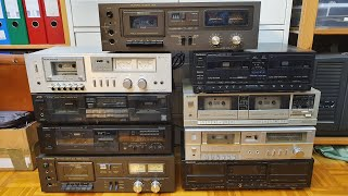 Testing 9 newly acquired cassette decks