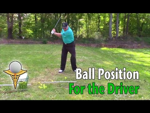 Flared Feet Ball Position With Your Driver – Golf Tip