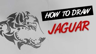 How to draw jaguar tribal tattoo design  |   Ep. 133
