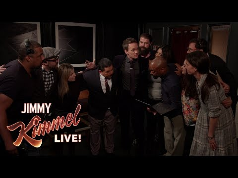Guest Host Neil Patrick Harris Inspires Kimmel Staff Before Show