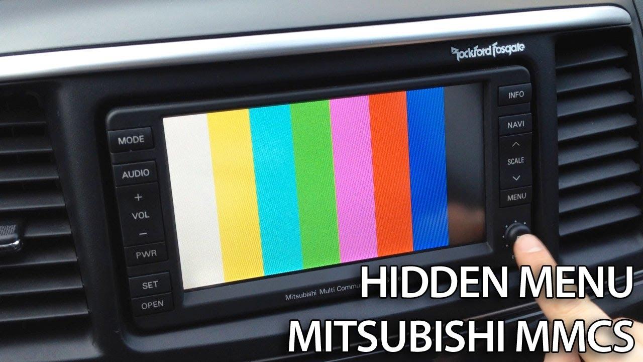 medium resolution of how to enter hidden service menu in mitsubishi mmcs lancer pajero outlander asx rvr youtube
