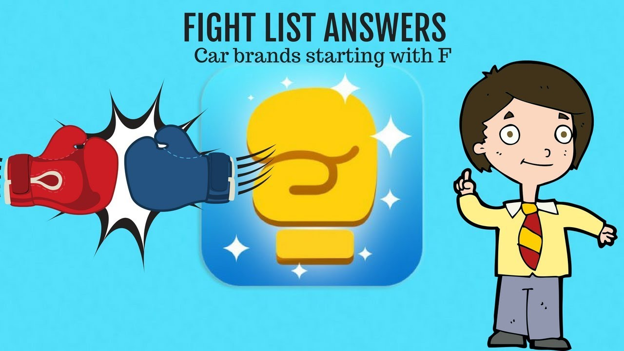 Car Brands Starting With F >> Car Brands Starting With F Fight List Answers