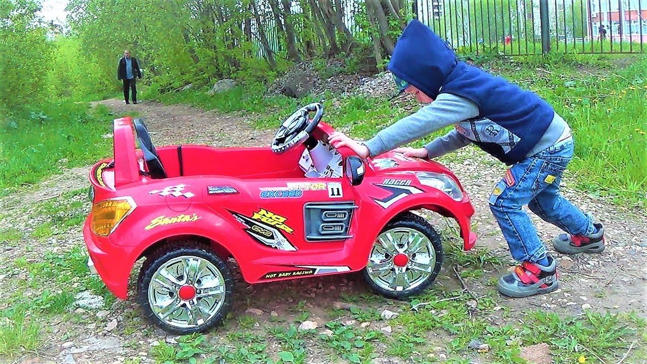 Транспорт для детей - Макс катается на машине - Тачки для детей