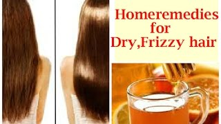DIY homeremedies for Dry,Frizzy hair- DIY Honey Rinse for damaged hair.