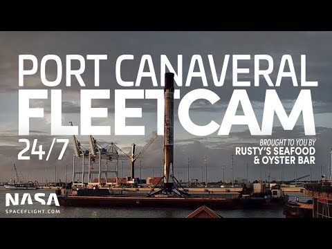 NSF Fleetcam - LIVE SpaceX Fleet Operations at Port Canaveral, FL 24x7