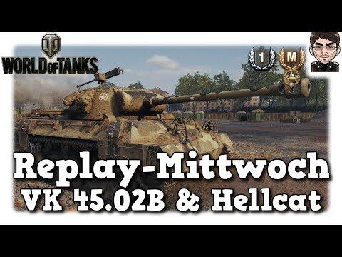 World of Tanks - VK 45.02B & Hellcat, Panzerung & Schaden [deutsch | Replay] thumbnail