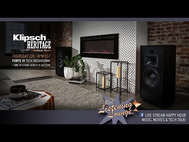 Klipsch Listening Lounge: Forte speakers and 75th anniversary!