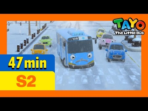 Tayo S2 Full Episodes S2  E23-E26 (8/8) l Tayo's first snow day l Hana's special day