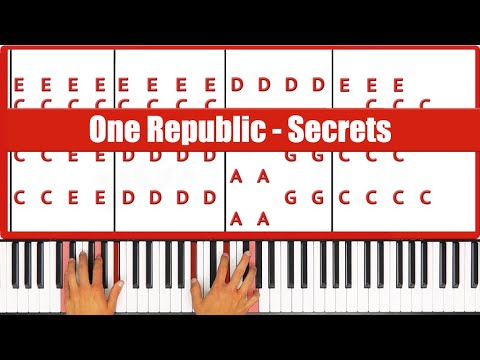 Secrets One Republic Piano Tutorial - ORIGINAL