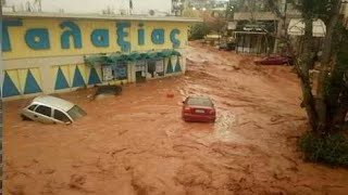 Alluvione Grecia, inondazioni e pioggia torrenziale