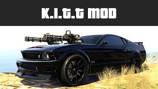 KNIGHT RIDER K.I.T.T MOD (Car Miniguns & Drive on Water!) | GTA 5 PC Mods