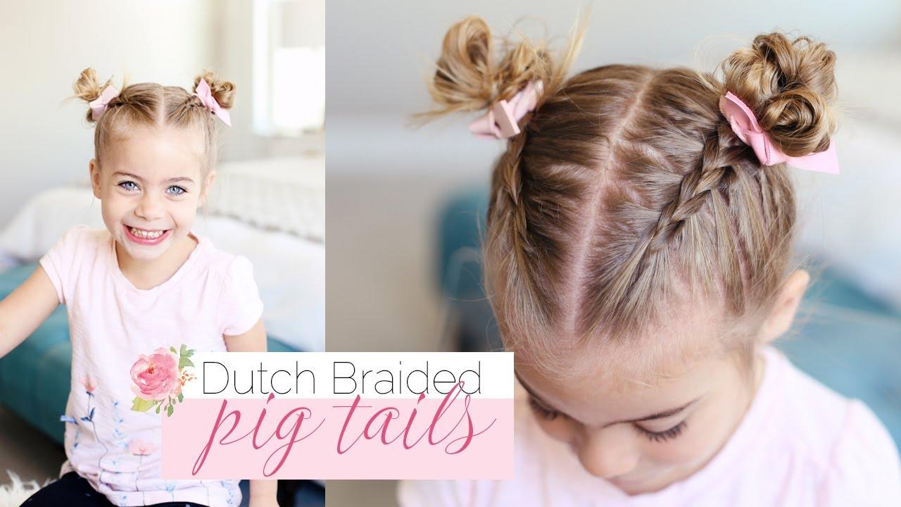cute little girl hairstyle | dutch braided pigtails | twist me pretty