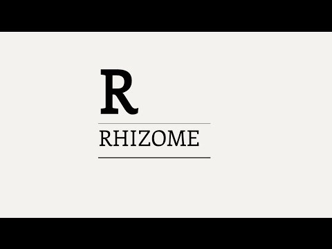 Three Minute Theory: What is the Rhizome?
