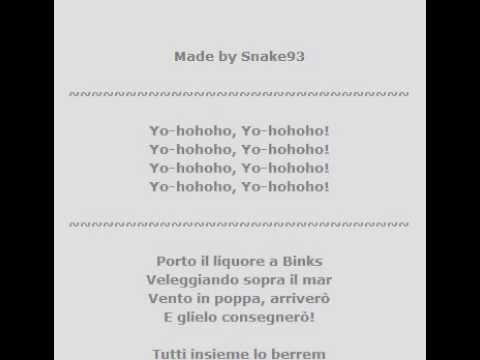 Bink's Sake Full Song Karaoke ITALIANO