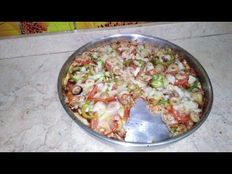 صورة  طريقة عمل البيتزا طريقه عمل البيتزا بالفراخ طريقة عمل البيتزا بالفراخ من يوتيوب