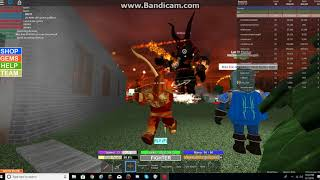 Roblox Field Of Battle: This guy is cheating in demon round
