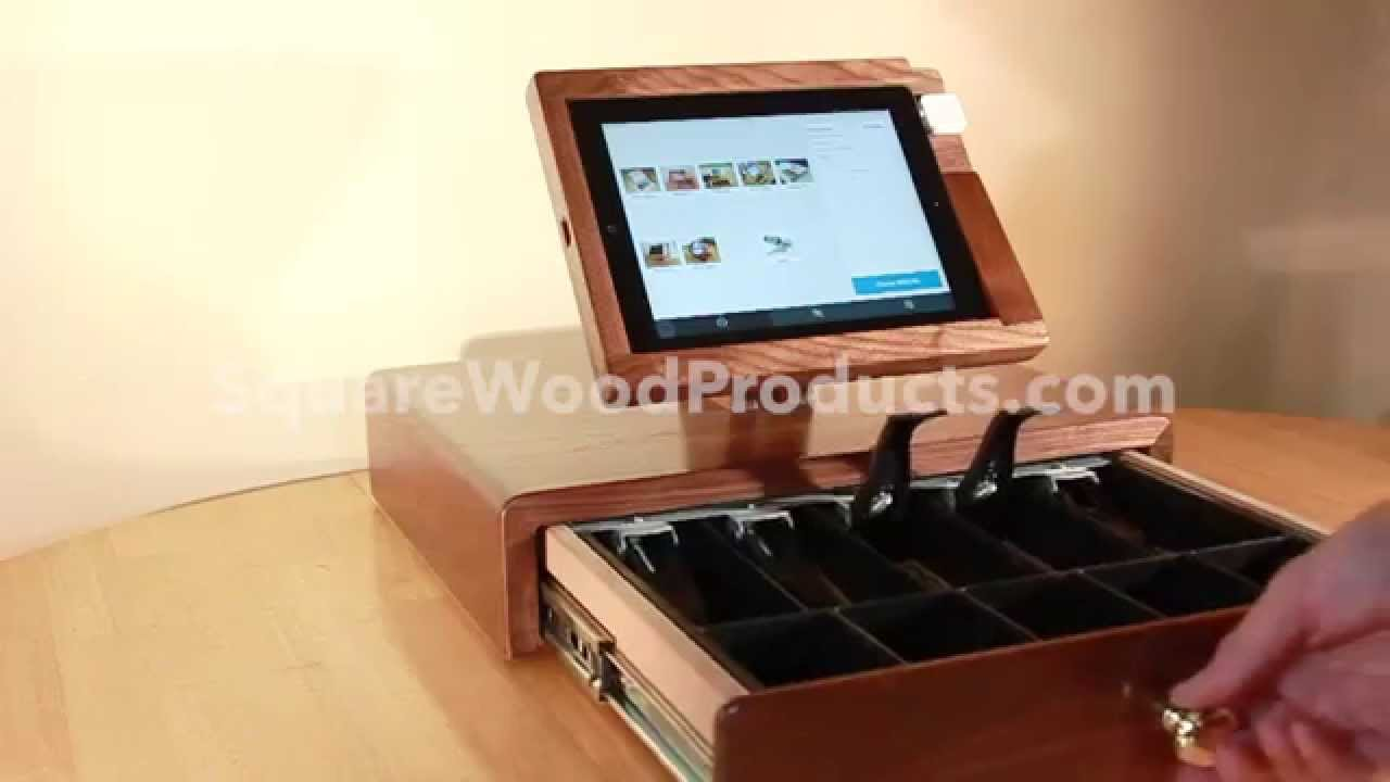 drawer apg register view drawers front vasario attach square media closed printer cash black