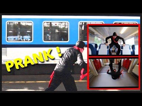 Ninja ve Vlaku (Prank)