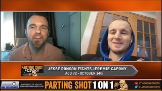 "ACB 72's Jesse Ronson ""I'm going to slice Jeremie Capony up with elbows and knees"""
