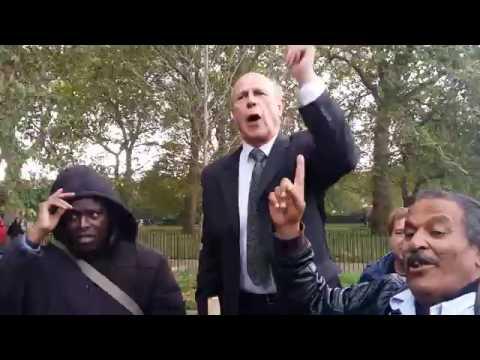 Egyptian Muslim Attacked Man Of God - Speakers Corner Hyde Park London 9-10-16.
