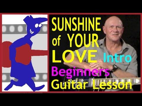 Sunshine of your Love Intro Guitar Lesson - 동영상