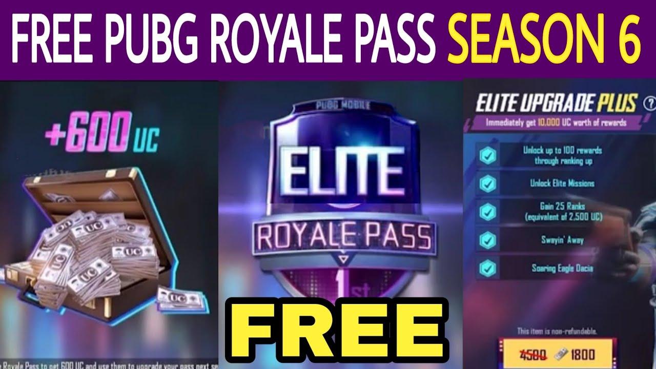 Pubg mobile royale pass season 6|get royale pass season 6 for free|how to  get free elite royale pass