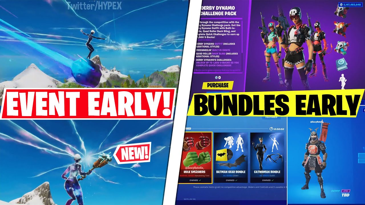 NEW Live Event EARLY GAMEPLAY! Leaked ITEMSHOPS & BUNDLES Early Look, SEASON 4 Marvel Details..!