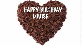 Louise - chocolate - Happy Birthday