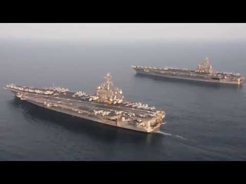 USS Carl Vinson (CVN 70) relieves USS George H.W. Bush (CVN 77) in Arabian Gulf