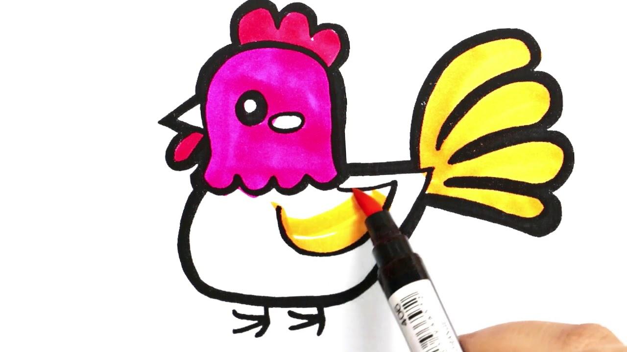 Horoz Boyama Renkleri Ogreniyorum Boyama Sayfasi Sihirli Kalemler