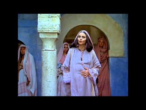 Meeting of Mary [OLIVIA HUSSEY] with Elizabeth [MARINA BERTI]