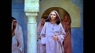 Meeting of Mary [OLIVIA HUSSEY] with Elizabeth [MARINA BERTI]