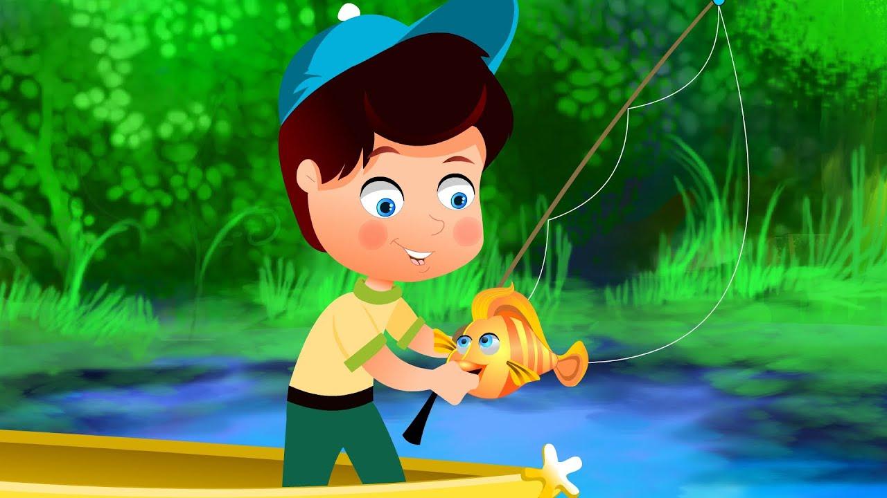 Once i caught a fish alive kindergarten nursery rhymes for Once i caught a fish alive
