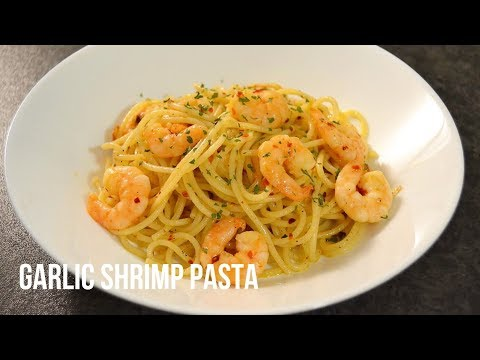EASY SPICY GARLIC SHRIMP PASTA RECIPE (SHRIMP SCAMPI)