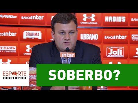 """Soberbo? Diretor diz que SPFC é melhor """"vitrine"""" que Corinthians"""